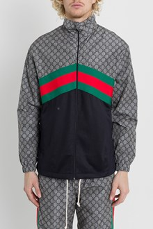 GUCCI Giacca oversize in jersey tecnico grigio 4026b7a6134c