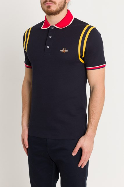 b1f0ce4fca049c Men Cotton polo with bee disponibile su gaudenziboutique.com