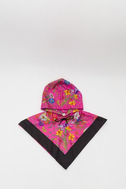 a106f0bfc5ba Women Nylon hood with Flora print disponibile su gaudenziboutique.com