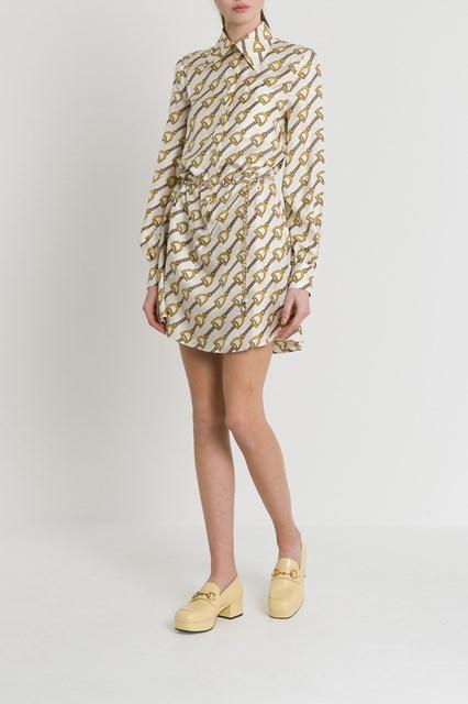 93bafec94 Women Silk dress with stirrups print disponibile su gaudenziboutique.com