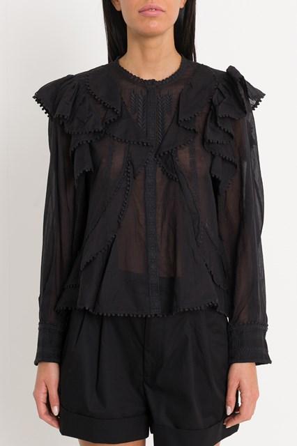 99017068838e2 Women Alea shirt with furrles and embroideries disponibile su ...