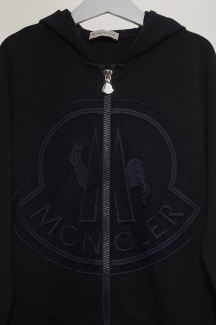 Felpa Moncler con cappuccio e big logo