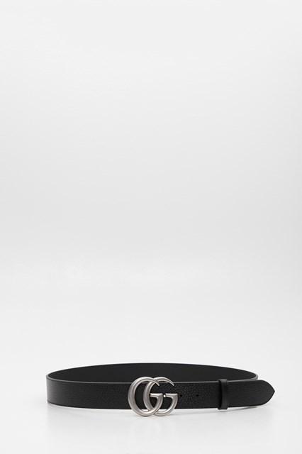 negozio online c70ac 80065 Cintura GG marmont 4 cm fibbia argento