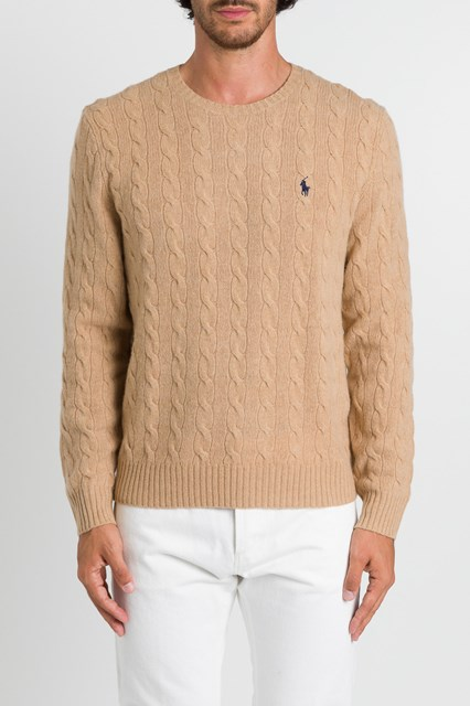 in vendita 8b4ab 71e30 Cable Stitch Sweater Beige Men available on gaudenziboutique.com
