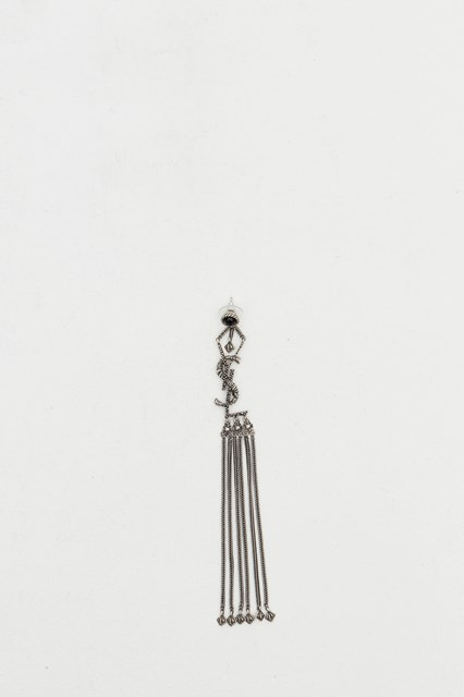 Monogram Earrings With Tassels Metallic Available On Gaudenziboutique Com Nl