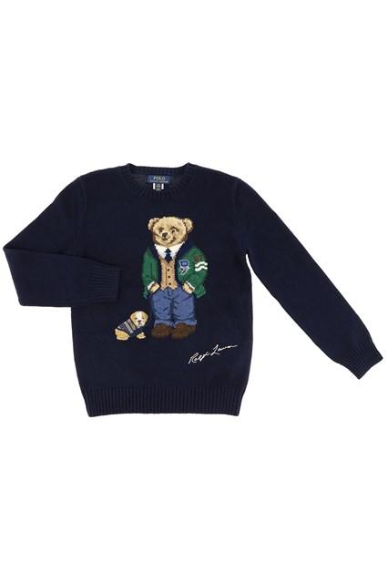 Polo Ralph Lauren Boy/'s 12 18 24 Months Sweater Polo Bear Blue Teddy Infant NWT