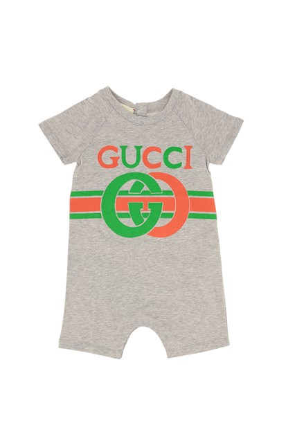 L Armadio Che Scoppia Baby Vintage Boutique.Vintage Jumpsuit With Gg Logo Grey Unisex Baby Available On