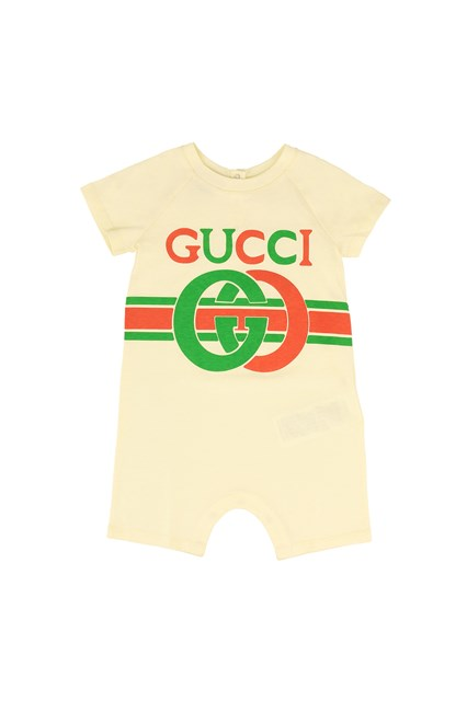L Armadio Che Scoppia Baby Vintage Boutique.Vintage Jumpsuit With Gg Logo White Unisex Baby Available On