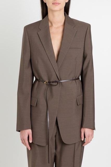 giacca lana donna marrone