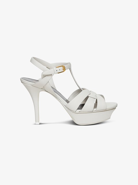 Tribute Sandals with Plateau White