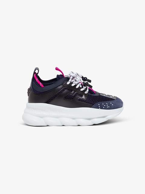 Chain Reaction Panelled Sneakers Blu