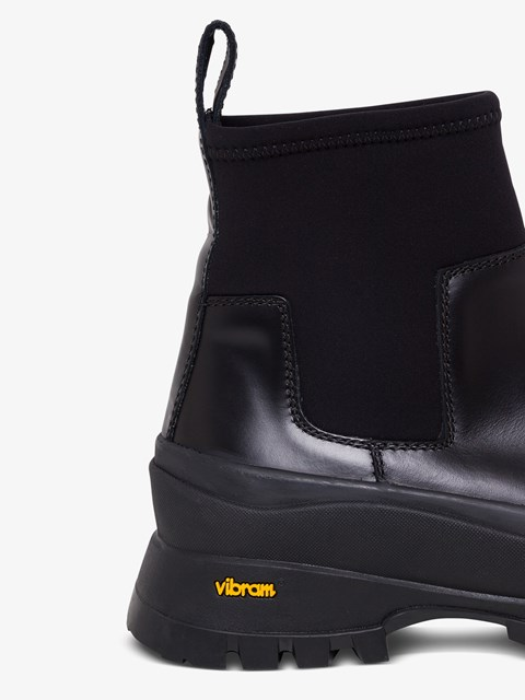 Rubber ankle boot with neoprene Black