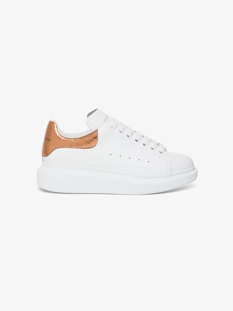 Big Sole Leather Sneakers White