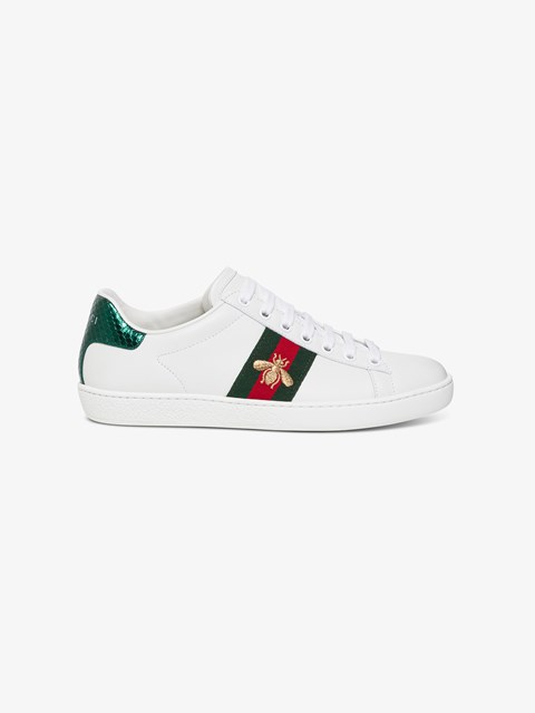 Embroidered Ace Sneakers White