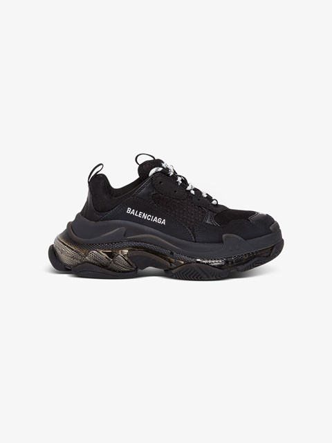 Triple S Sneakers Black available on
