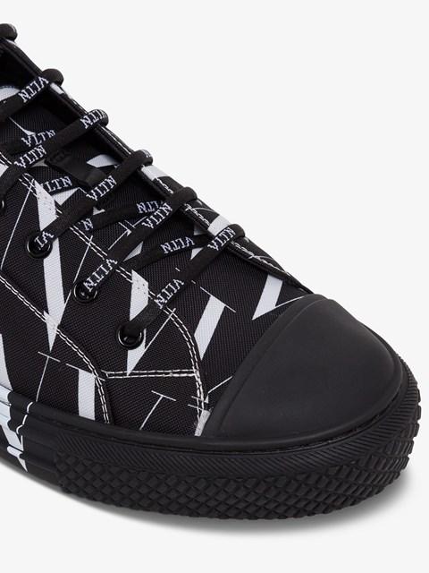 Giggles VLTN Fabric Sneakers Black