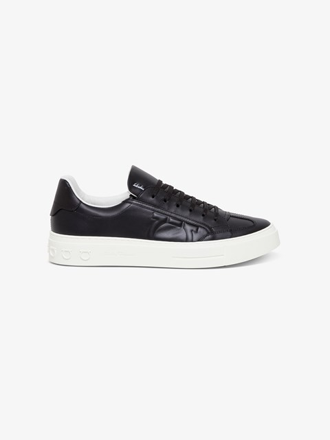 Borg Leather Sneakers Black available