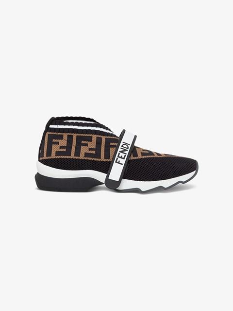 Black FF fabric sneakers Brown